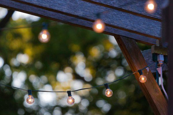 Solar lampen in de tuin